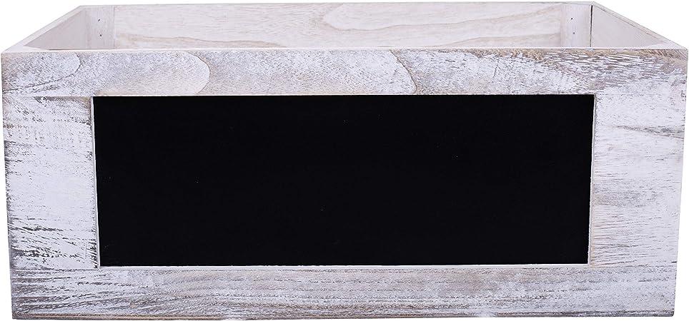 Cajas de madera con pizarra, Large: Amazon.es: Oficina y papelería