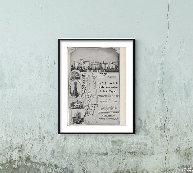 Jackson Heights Subway Map.Amazon Com 1923 10 Map Of Jackson Heights No 8 P 433 Chamber Of