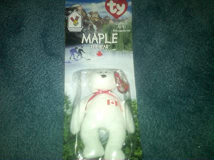 Image Unavailable. Image not available for. Color  Ty RARE Collectible Maple  the Bear Beanie Baby! Ronald Mcdonald House Charities NEW f4854b8f3bc7