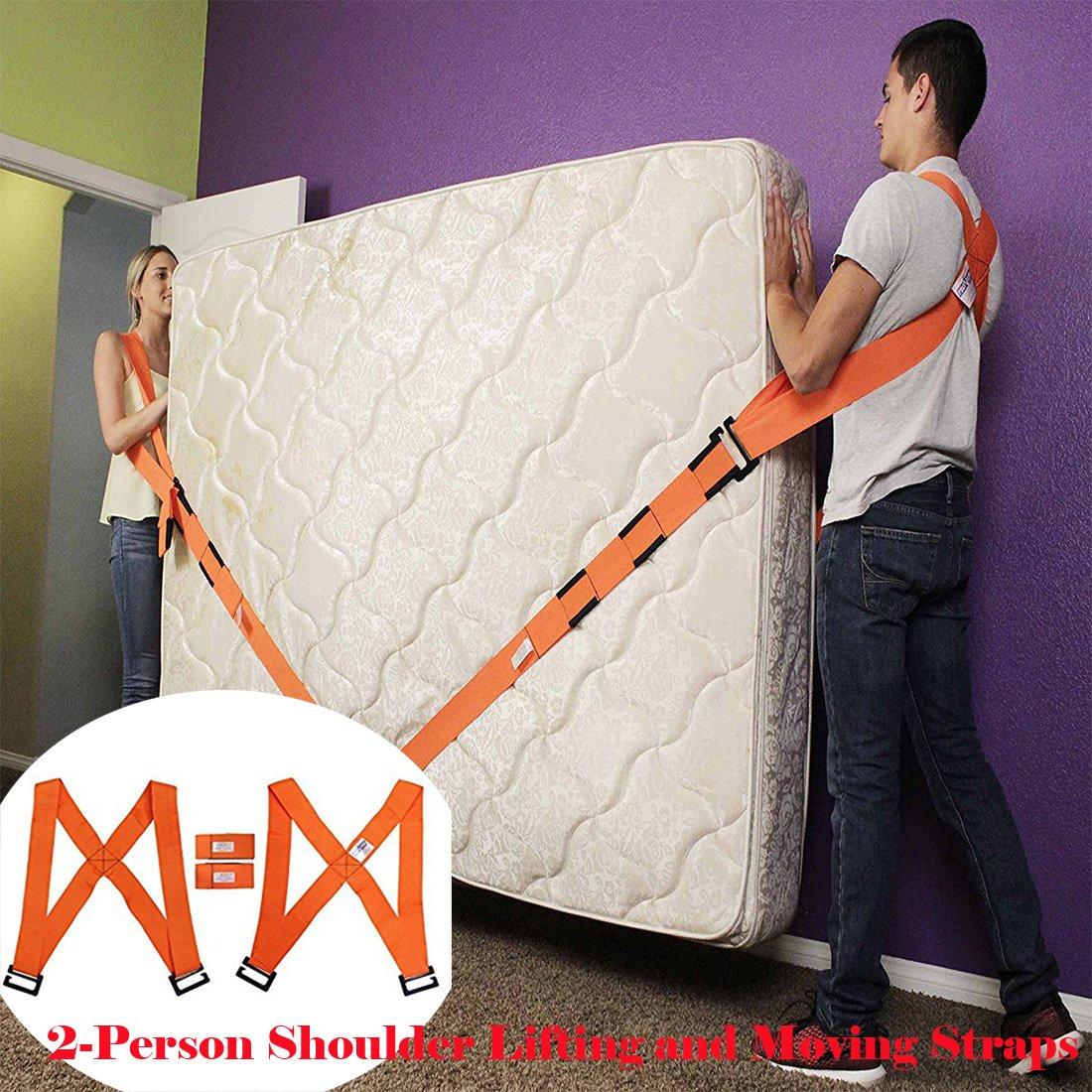 Lennystone Lifting and Moving Straps Sistema de elevació n y movimiento para 2 personas: mueva, transporte, levante muebles, electrodomé sticos y objetos pesados fá cilmente (sistema de elevació n para 2 personas)