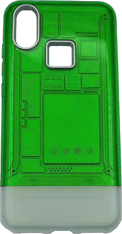 Max Power Digital Funda para móvil Xiaomi Mi A2 (5.99 Pulgadas) Antigolpes - Carcasa Elegante Transparente Doble Reflectante Protectora Doble Rígida (Xiaomi Mi A2 / 6X, Verde)
