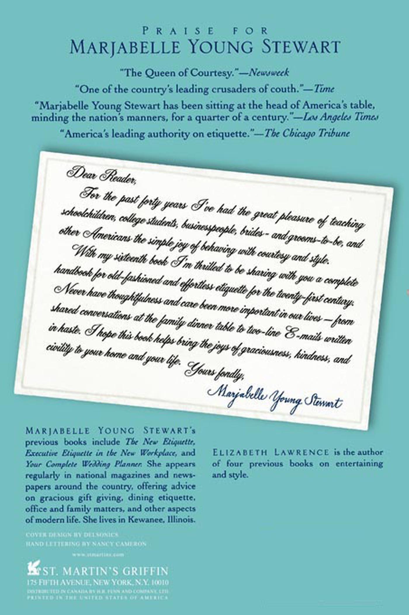 amazon com commonsense etiquette a guide to gracious simple amazon com commonsense etiquette a guide to gracious simple manners for the twenty first century 9780312242947 elizabeth lawrence books