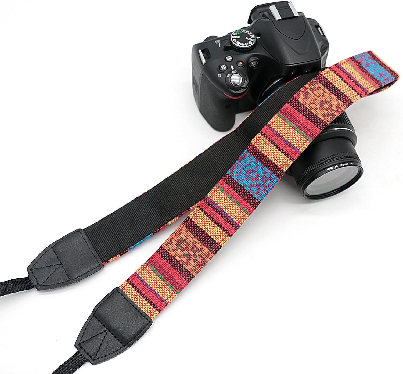 Compatible with Canon Fujifilm Nikon Olympus Panasonic Pentax Sony Cameras Camera Shoulder Belt Strap Vintage Weave Camera Neck Strap Classic Design LYN-207