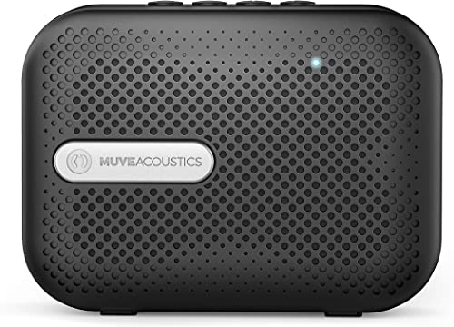 MuveAcoustics Box Wireless Bluetooth Speaker with High Audio Sound Boosted Bass, Hands Free with Built-in Microphone – Lightweight Portable Speaker Stereo, Black