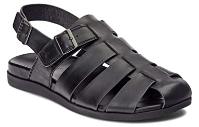 65c4b5223fa1 Vionic Men s Ludlow Gil Fisherman Sandal - with Concealed Orthotic Arch  Support Black 7 ...