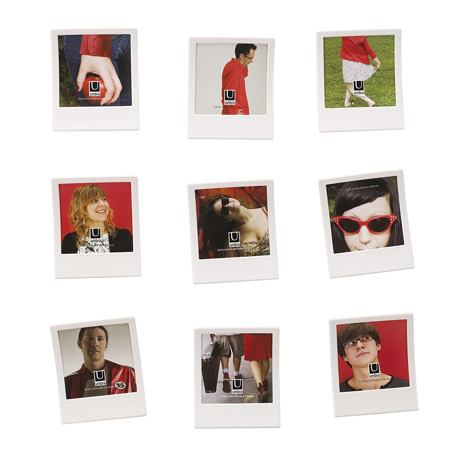 Amazon.com - Umbra Snap 3.5-Inch-by-3.5-Inch Frame, Set of 9, White ...