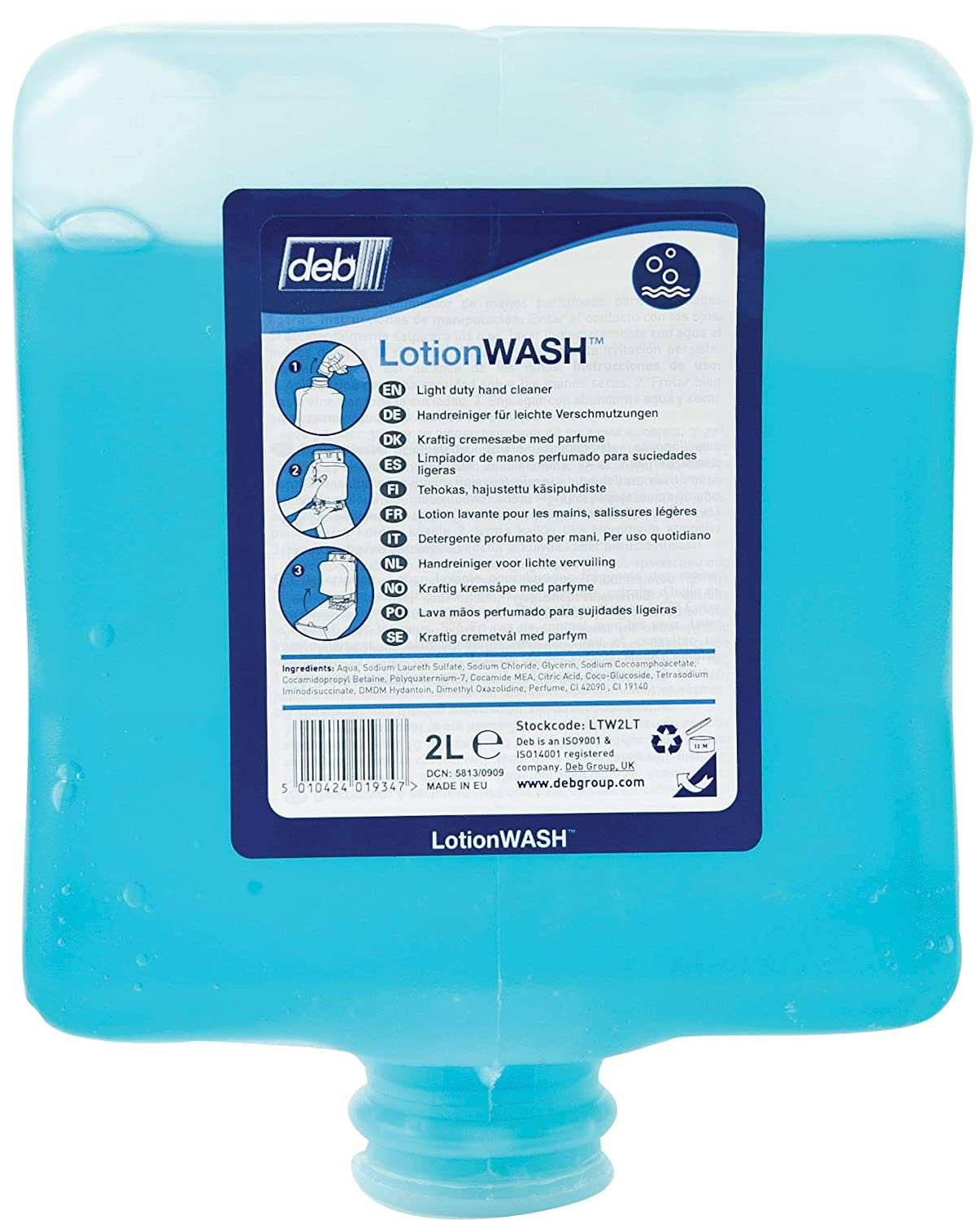 Deb LTW2LT Lotion Wash, 2 Liter