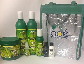 Boe Crece Pelo 5pc Set w/ Clear Tote w/ FREE TRESemme Platinum Strength Shampoo