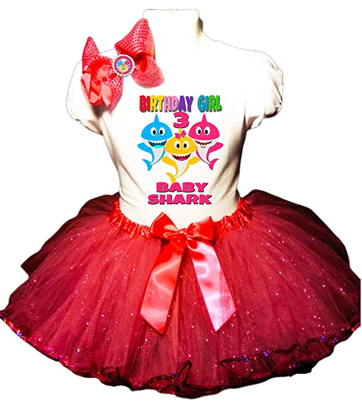 3pc Outfit mc680 Birthday Shirt CUSTOM AGE Birthday Girl Tutu Outfit Ribbon Party Dress Lilo /& Stitch Birthday Outfit