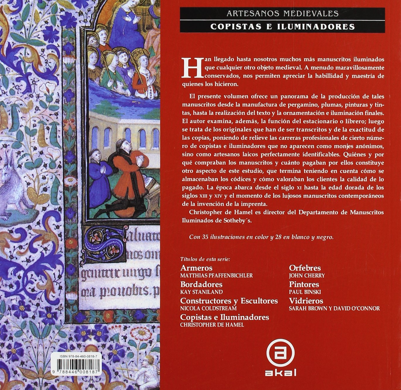 Copistas E Iluminadores - Artesanos Medievales (Spanish Edition): Christopher de Hamel: 9788446008187: Amazon.com: Books