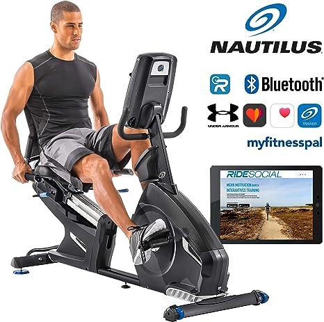 Bicicleta estática reclinada Nautilus R628 con 29 programas ...