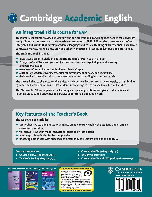 Buy Cambridge Academic English C1 Advanced Teacher's Book: An