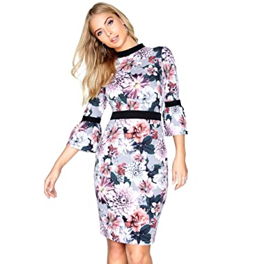 309d417b7846d1 Paper Dolls Womens/Ladies Dusky Floral Dress: Amazon.co.uk: Clothing