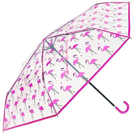susino transparente Mini plegable paraguas – Flamencos