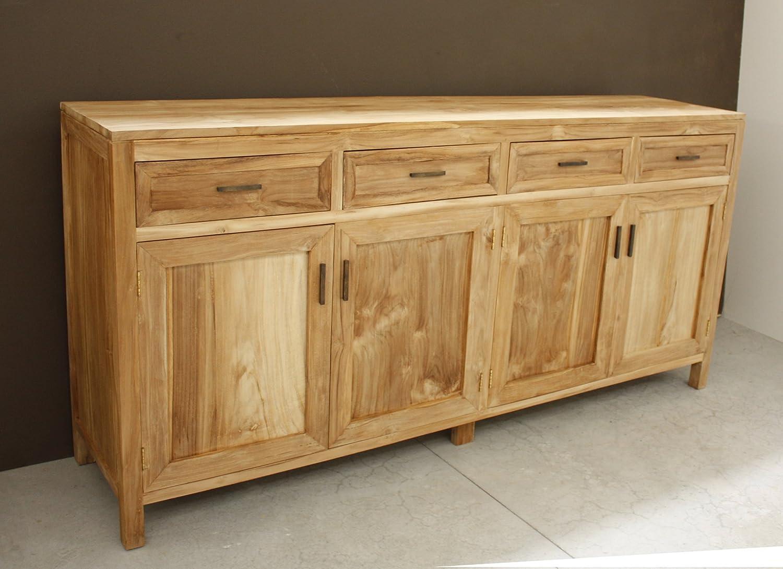 Buffet 4 ante mobile soggiorno in legno TEAK naturale massello ...