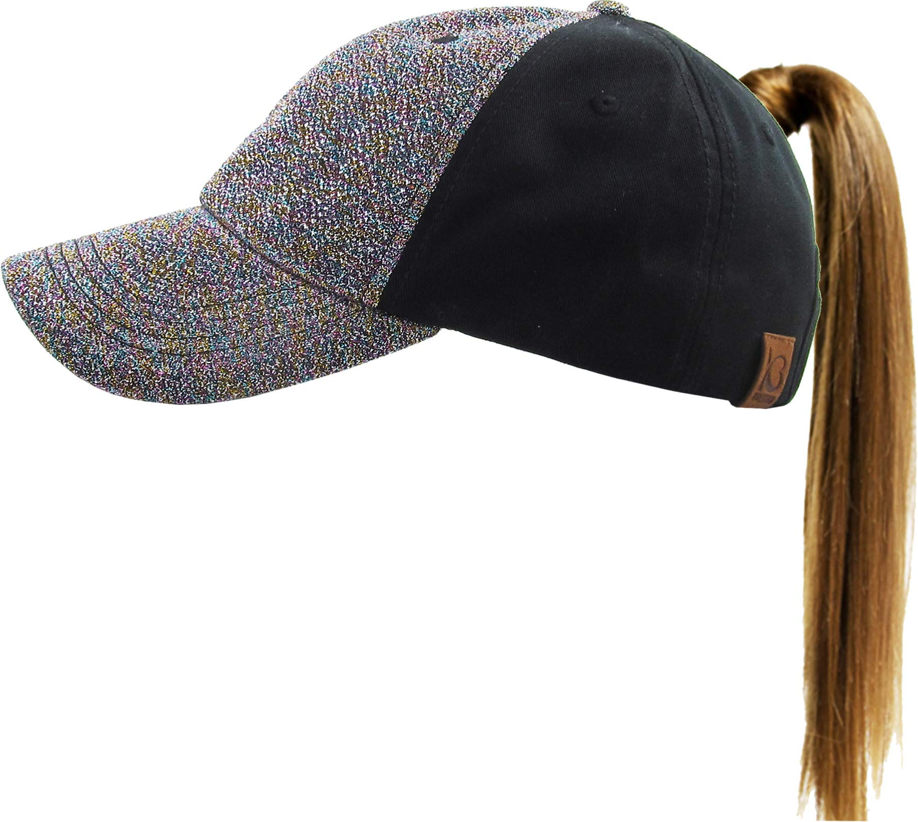 f34da4577f044 All That Glitter Ponytail Cap Comfy Sports Hat Daily Wear Messy High Bun  Fits Everyone product