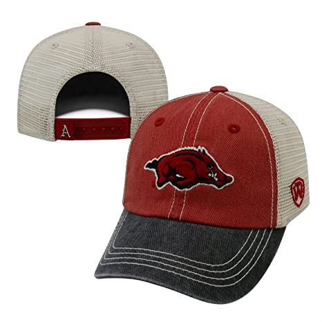 8758f6bec3d Top of the World Offroad Arkansas Razorbacks Adjustable Youth Three-Toned  Hat