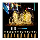 Forthcan 10 Pack Wine Bottle Lights with Cork-20