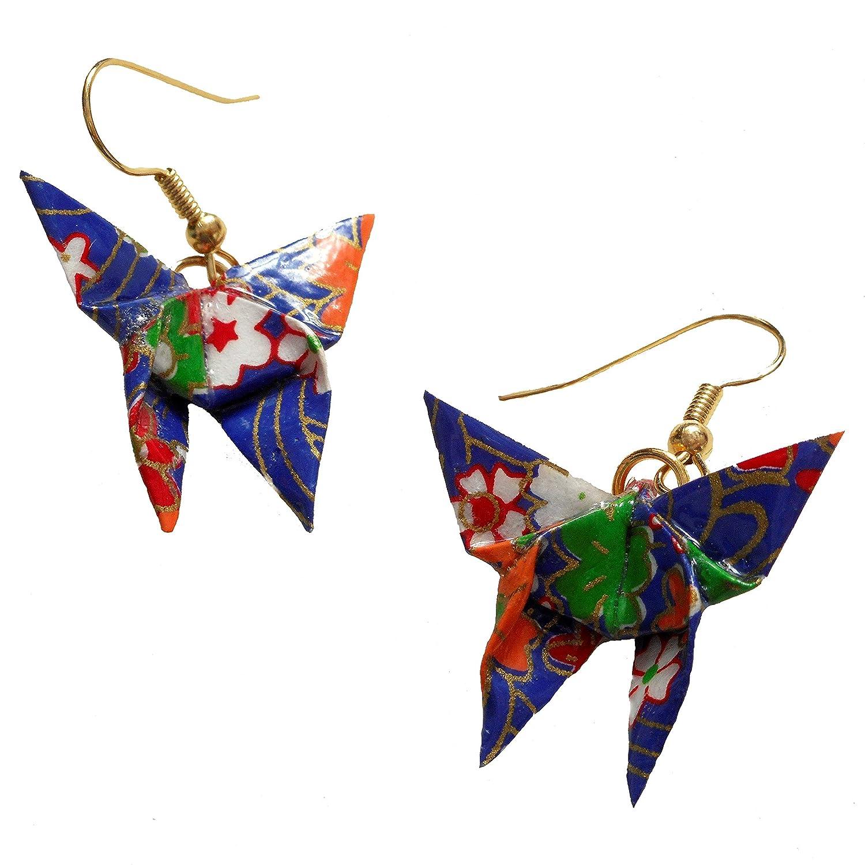 Origami earring butterfly