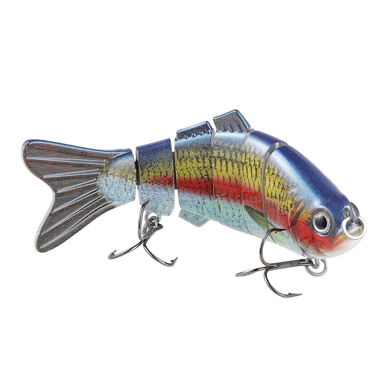 TRUSCEND Realistico Pesca Esche 10cm/20g Esca Snodato Esca Artificiali Swimbait con Ganci Sun-Pesce Realistiche Esche Hard Bass