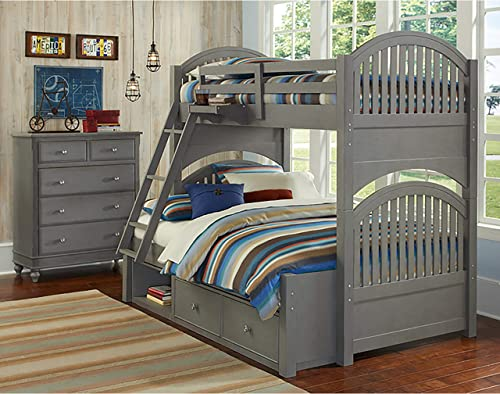 Hillsdale Kids and Teen Lake House Adrian Stone Finish Twin Over Full Bunk Bed