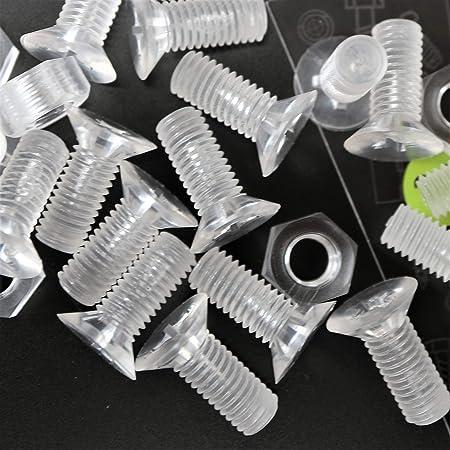 M3 x 20mm PP acr/ílico 20 x tuercas y tornillos avellanados con agujero transversal Polipropileno Blancos Pernos Tornillos y Tuercas de Pl/ástico anticorrosivo