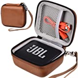 Funda compatible con altavoz portátil Bluetooth JBL GO 2/JBL GO impermeable, soporte para bolsa de viaje compatible con cable