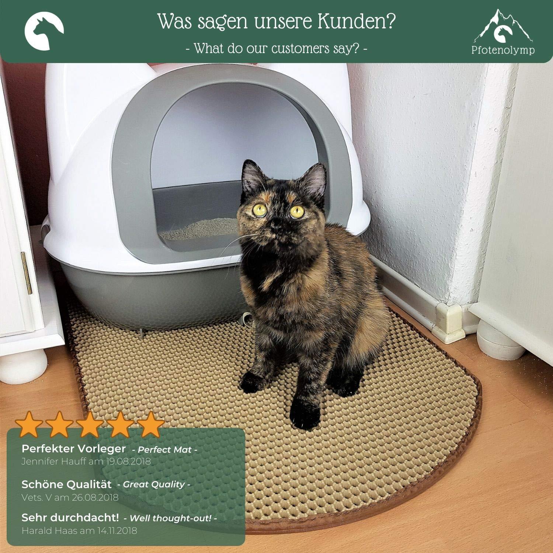 Pfotenolymp Olymp de Huellas para Gatos Alfombrilla Grandes Matte como Base para Gato Inodoro: Amazon.es: Productos para mascotas