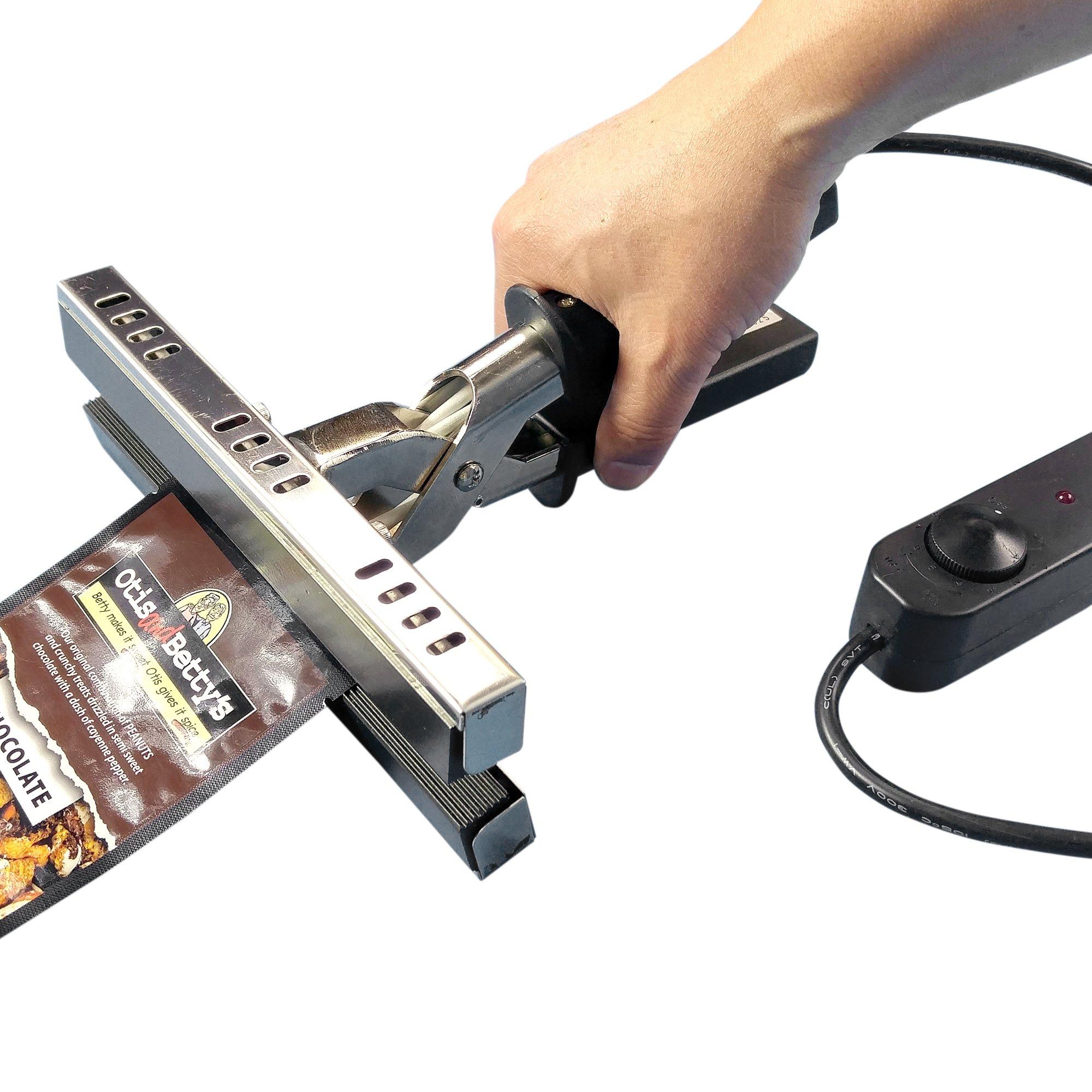 8'' Mylar Bag Heat Sealer KF-200CS, 110V/120W, Adjustable Temp., for Sealing Foil Kraft Coffee Storage Pouches