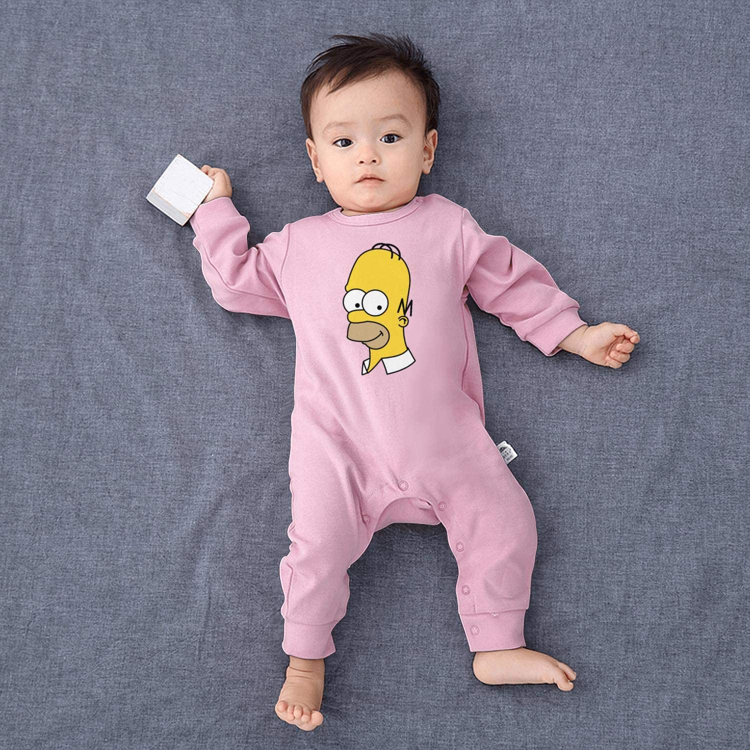 Baby Girls Boys Onesies The-Simpsons-Homer-Simpson Baby Onesie Printed Bodysuit