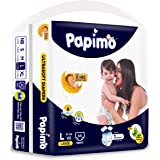 Papimo Baby Large Size Diaper Pants, 64 Count