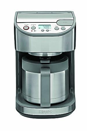 Krups KT 4065 Independiente - Cafetera (Independiente, Cafetera de filtro, 1,25 L, De café molido, 1100 W, Negro, Acero inoxidable): Amazon.es: Hogar