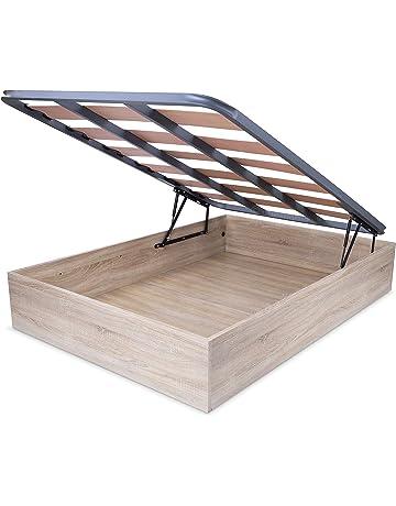 HomeSouth - Canape con somier abatible, Cama con Base de Laminas para Dormitorio, Modelo