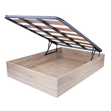 HomeSouth - Canape somier abatible, Cama con Base de láminas para Dormitorio, Color Cambria, Modelo Tajo, Medidas: 135 x 190 cm de Largo: Amazon.es: Hogar