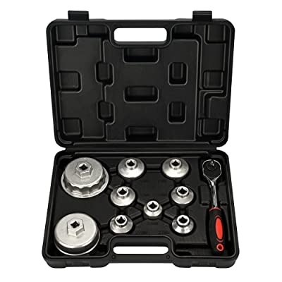 Mofeez Oil Filter Cap Wrench Metric 10-Piece Socket Set Tool Kit 24mm to 65mm for BMW, Mercedes, VW Paper Toyota 1.8L 2.5L 5.7L Engine: Automotive