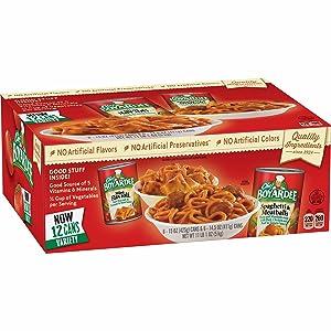 Chef Boyardee Mini Beef Ravioli and Spaghetti & Meatballs Variety Pack, 12 pack