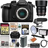 Panasonic Lumix DC-GH5 Wi-Fi 4K Digital Camera Body with 35mm & 85mm T/1.5 Lenses + 64GB Card + Case + Video Light + Battery Kit