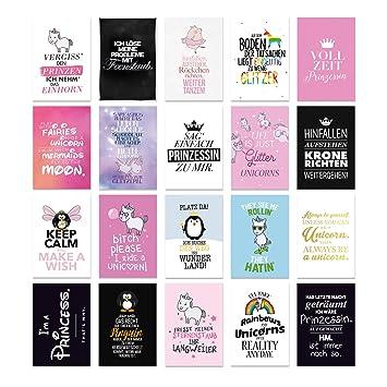 Visual Statements Postkartenset Mit 20 Postkarten Karten Mit