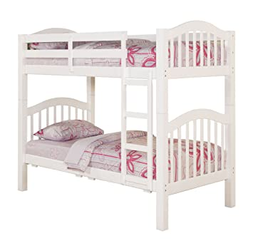 ACME 02354KD Heartland Twin Bunk Bed With 16 Slasts White Finish