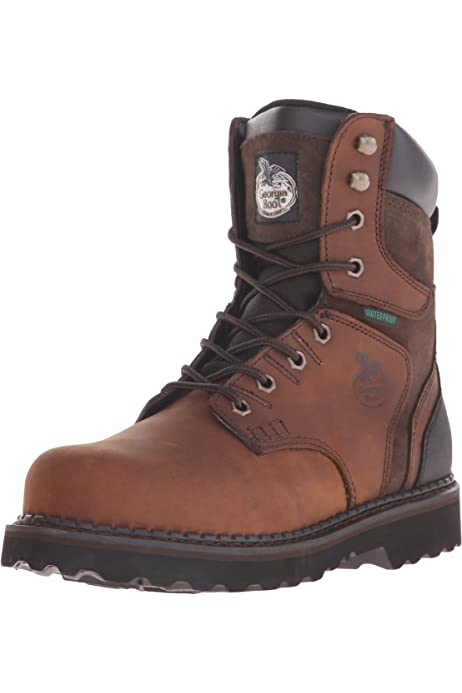 Work Boot-M Casual Shoe, Brown