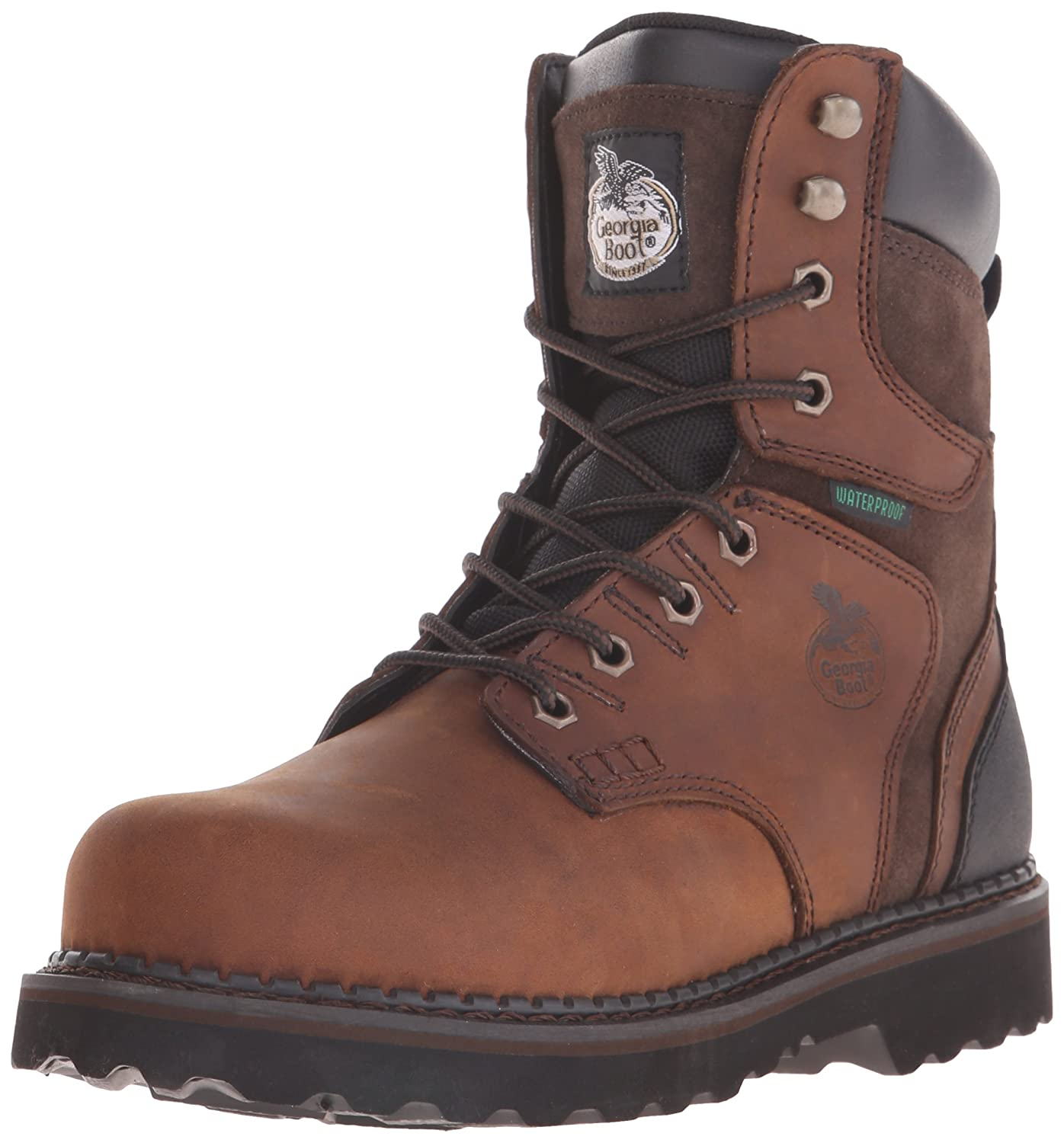 "Georgia Boot Men's Georgia Brookville 8"" Work Boot Work Shoe"