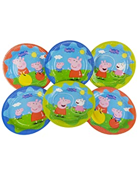 COOLMP - Juego de 12 Platos de cartón Peppa Pig 23 cm ...