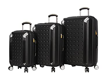 Lucas Luggage 3 Piece Rolling Suitcase Set Hard Case With Spinner Wheels 20quot 24quot