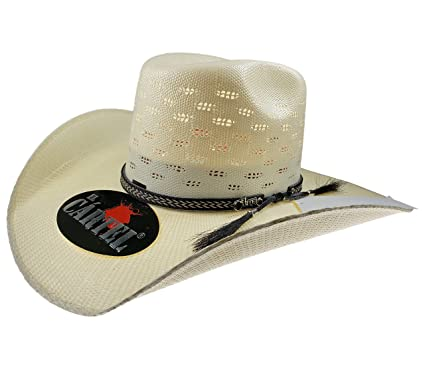 04c91fe7a3259 El General Men s Western Hat Sombrero 100X El Cartel Bangora 7 Lineas Ivory  (6 3
