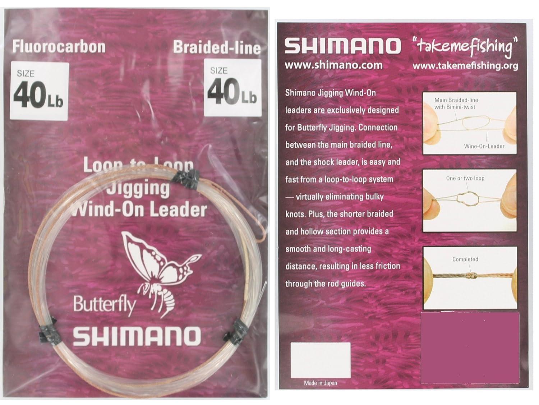 SHIMANO Butterfly Jigging Wind-On Fluorocarbon Leader