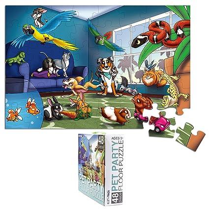 giant puzzle  : Floor Puzzles for Kids - 48-Piece Giant Floor Puzzle ...