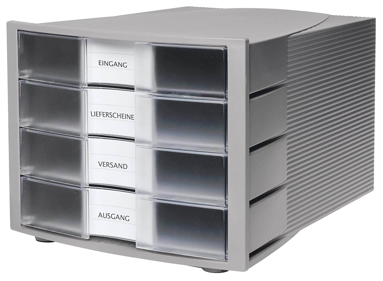 Han - HAN Module de classement IMPULS, 4 tiroirs, boîtier: gris: Amazon.es: Oficina y papelería