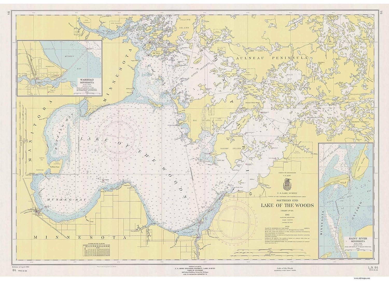 Amazon com: Lake of the Woods 1961 - Nautical Map Reprint