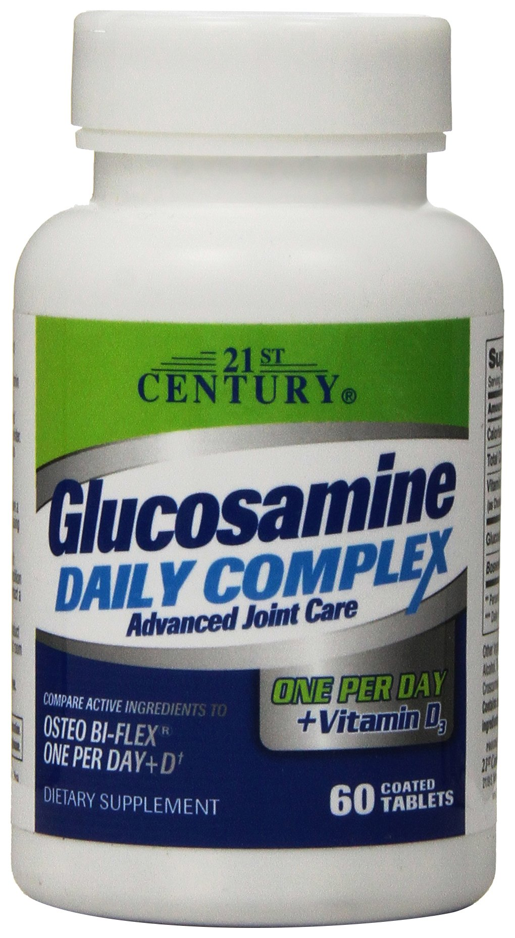 21st Century Glucosamine Daily Complex Plus D Tablets, 60 Count