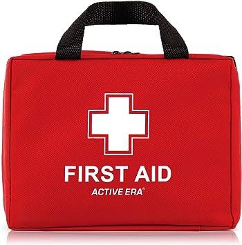 Botiquín de Primeros Auxilios Premium de 220 piezas. Incluye el kit para el lavado de ojos,